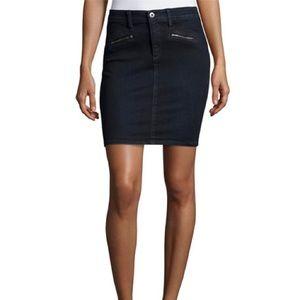 AG Jeans Kodie black coated biker skirt-28-NWT!